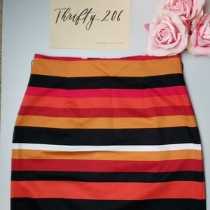[Worthington] Striped Pencil Skirt